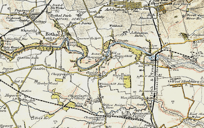 Old map of Guide Post in 1901-1903