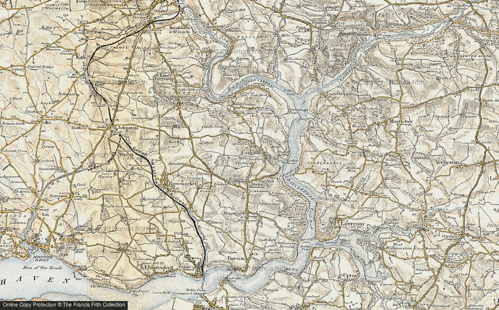 Old Map of Historic Map covering Ashdale in 1901-1912