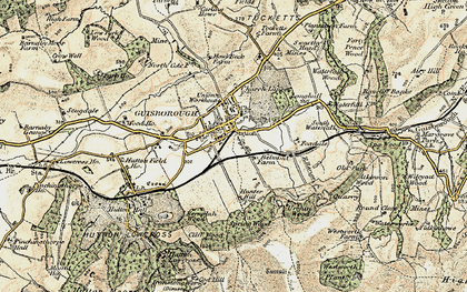 Old map of Guisborough in 1903-1904