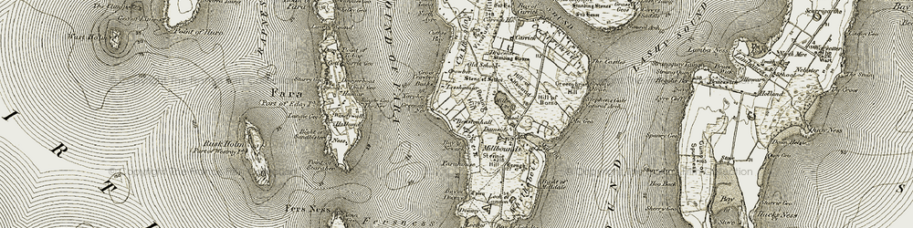Old map of Windywall in 1912