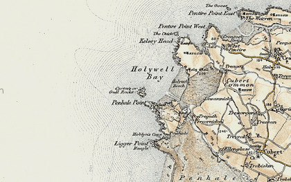 Old map of Gull in 1900