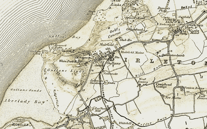 Old map of Gullane in 1903-1906