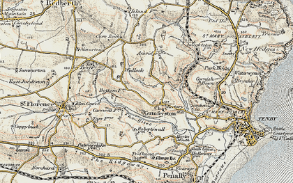 Old map of Astridge in 1901