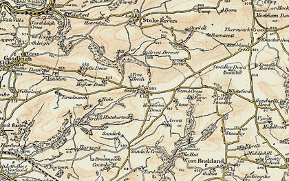 Old map of Whitsford in 1900