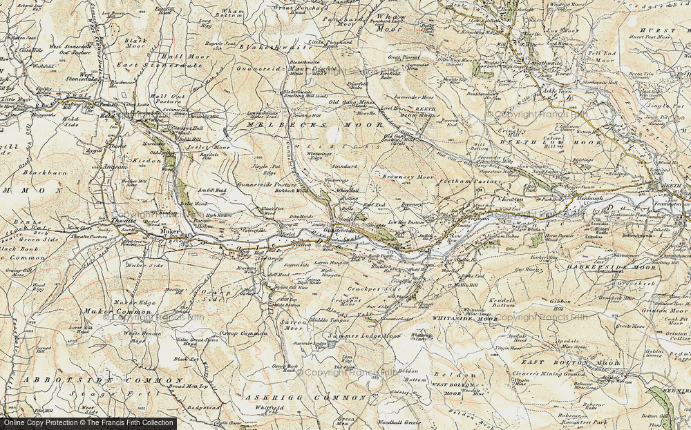 Old Map of Gunnerside, 1903-1904 in 1903-1904