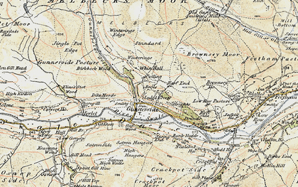 Old map of Whin Hall in 1903-1904