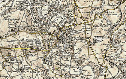 Old map of Gunnislake in 1899-1900