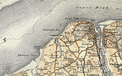 Old map of Gurnard in 1897-1909