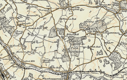 Old map of Gustard Wood in 1898-1899