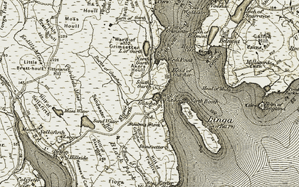 Old map of Tittynans Hill in 1912