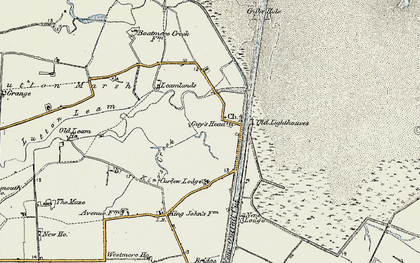Old map of Leamlands in 1901-1902