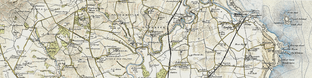 Old map of Whirleyshaws in 1901-1903