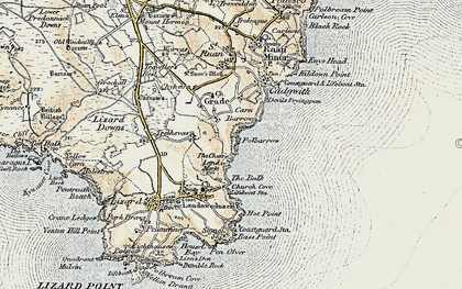 Old map of Whale Rock in 1900