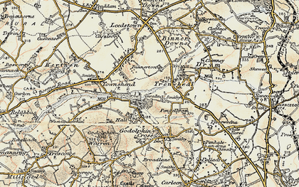 Old map of Gwedna in 1900