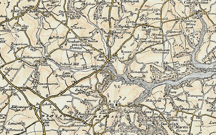 Old map of Gweek in 1900