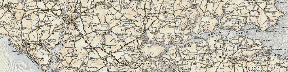Old map of Tolvan Cross in 1900