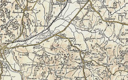 Old map of Allt-y-bela in 1899-1900