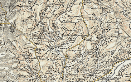 Old map of Allt Troed-y-rhiw in 1900-1902