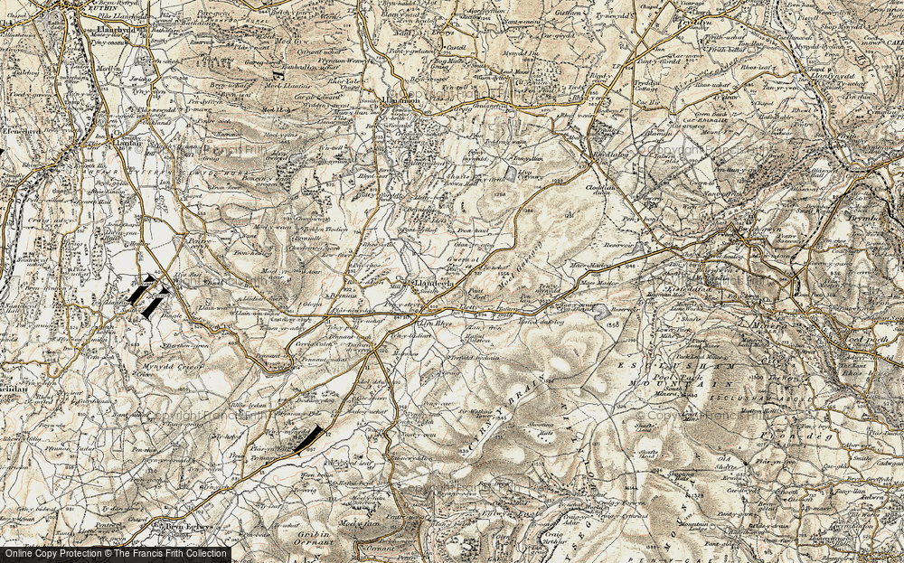 Old Map of Gwernol, 1902-1903 in 1902-1903