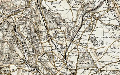 Old map of Gwersyllt in 1902
