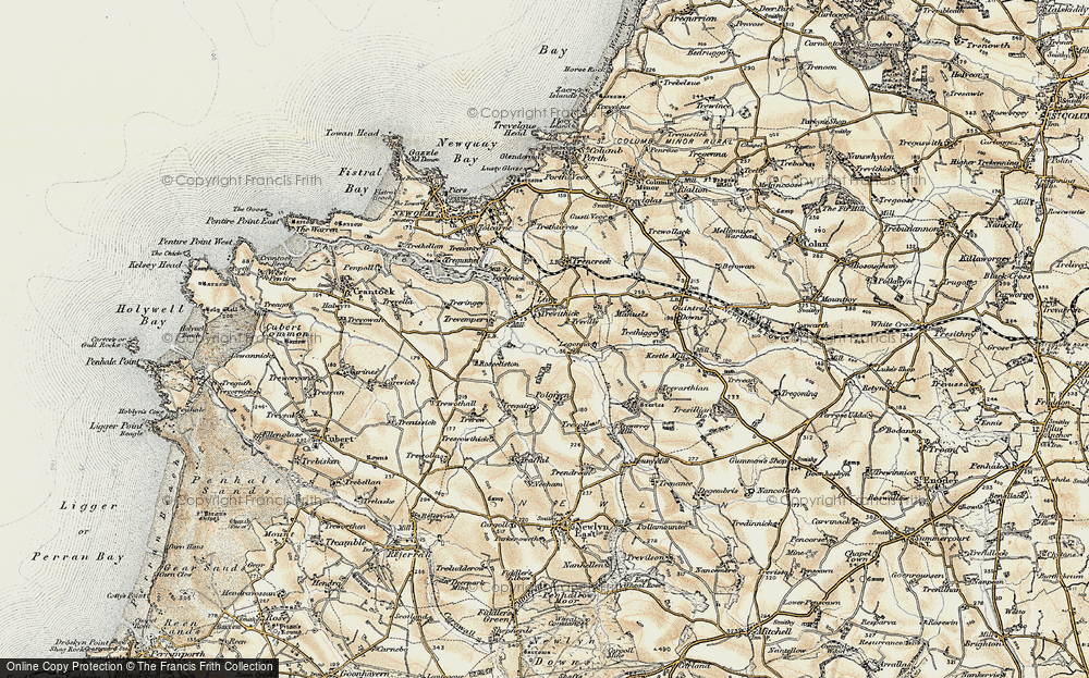 Old Map of Historic Map covering Legonna in 1900