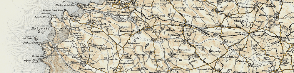 Old map of Legonna in 1900