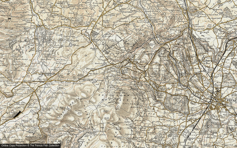Old Map of Historic Map covering Aber Sychnant in 1902-1903