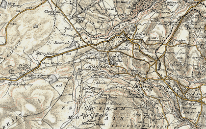 Old map of Aber Sychnant in 1902-1903