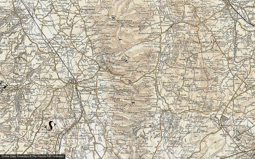 Old Map of Gyrn, 1902-1903 in 1902-1903