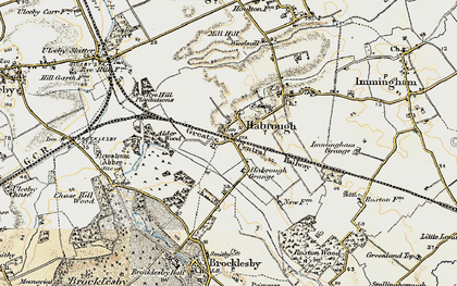 Old map of Habrough in 1903-1908