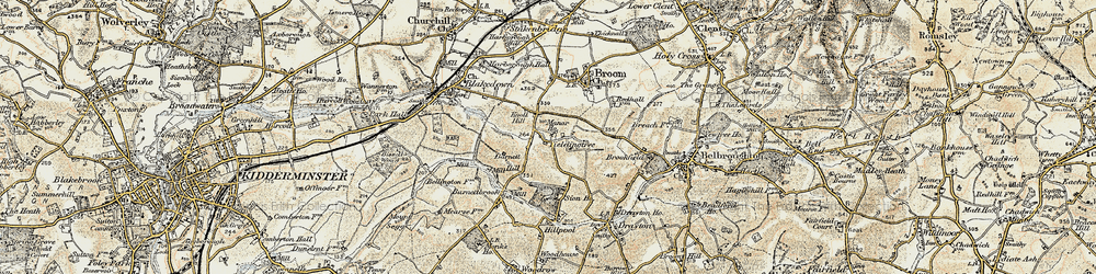 Old map of Yieldingtree in 1901-1902