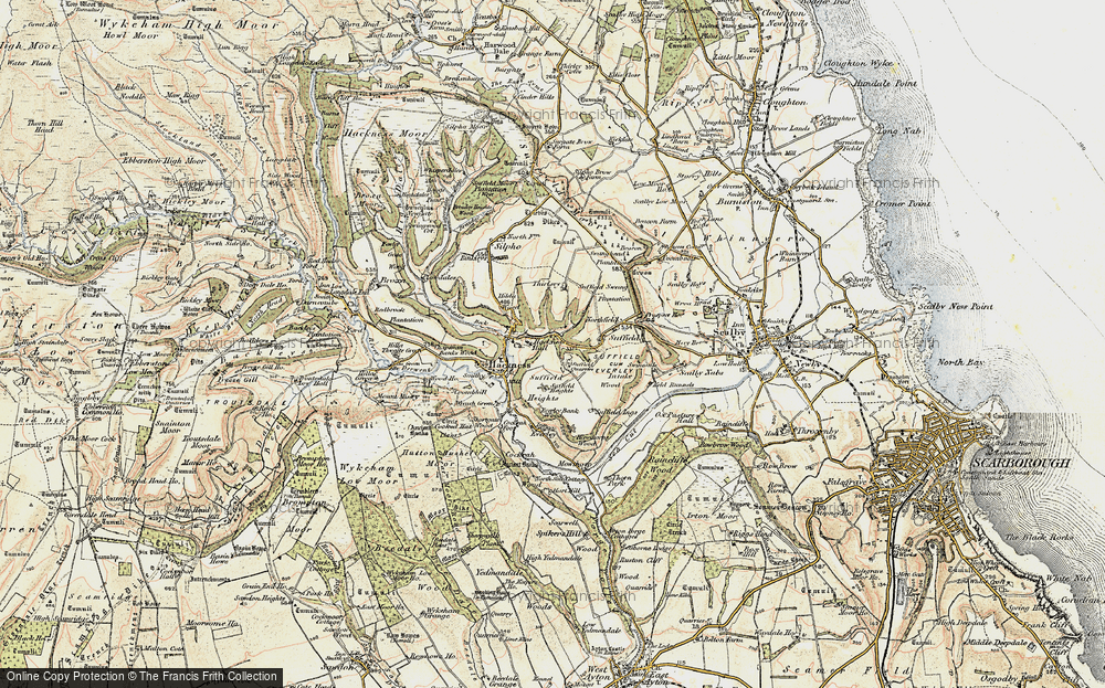 Old Map of Hackness, 1903-1904 in 1903-1904