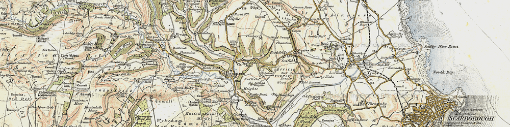 Old map of Wrench Green in 1903-1904