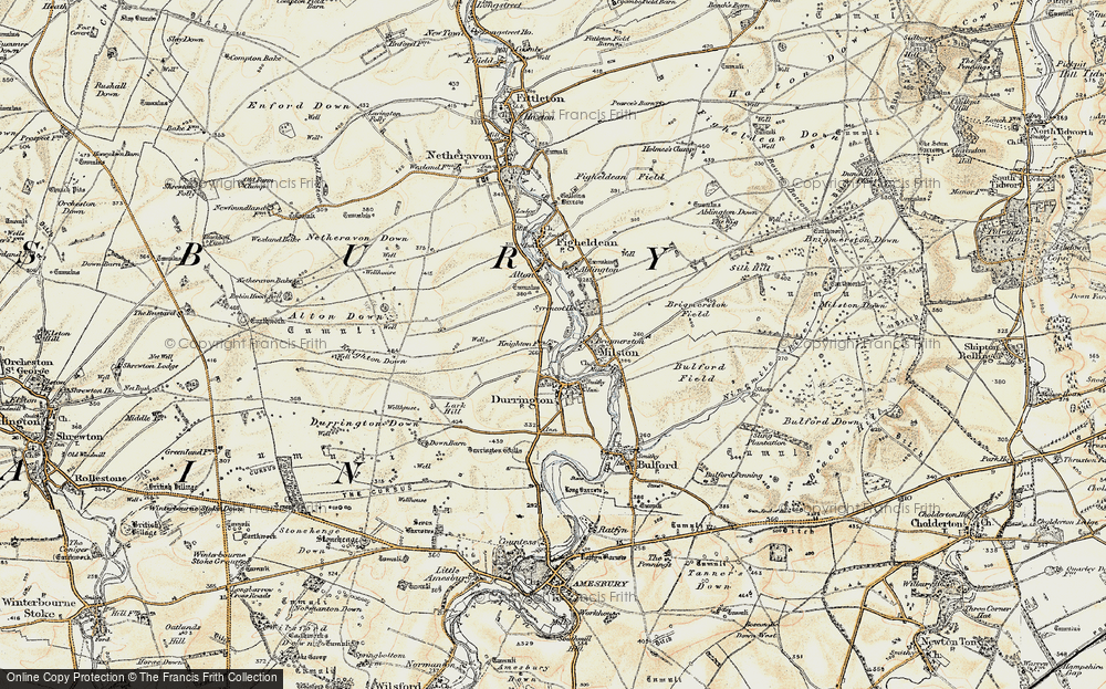 Old Map of Hackthorn, 1897-1899 in 1897-1899