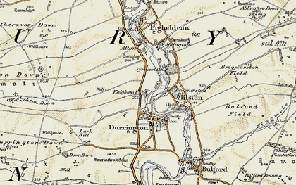 Old map of Hackthorn in 1897-1899