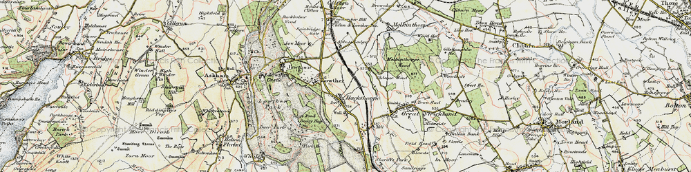 Old map of Abbott Lodge in 1901-1904