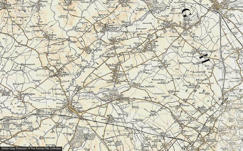 Old Map of Haddenham, 1898 in 1898