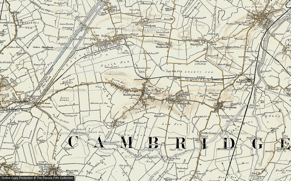 Old Map of Historic Map covering Linden End Field in 1901