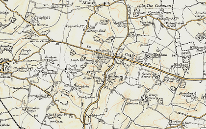 Old map of Hadham Ford in 1898-1899