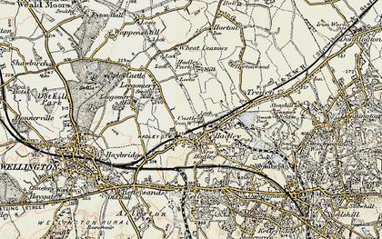 Old map of Hadley in 1902