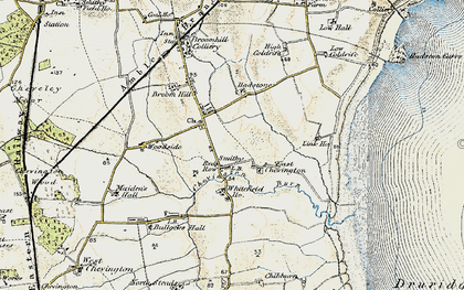 Old map of Whitefield Ho in 1901-1903