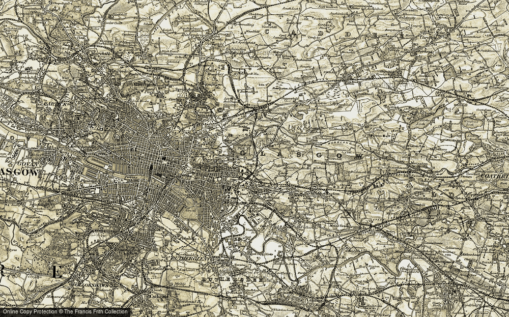 Old Map of Historic Map covering Alexandra Park in 1904-1905