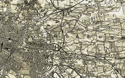 Old map of Alexandra Park in 1904-1905