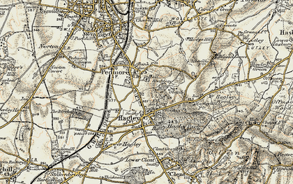 Old map of Wychbury Hill in 1901-1902