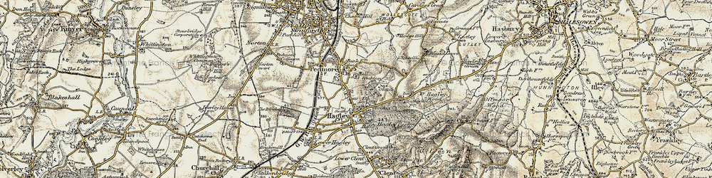 Old map of Wychbury in 1901-1902