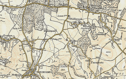 Old map of Hailes in 1899-1900