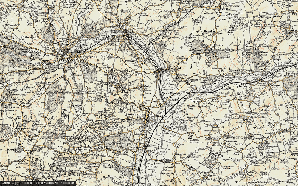 Old Map of Hailey, 1898 in 1898