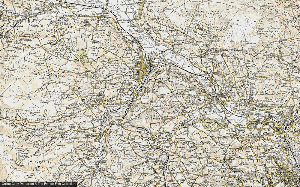 Old Map of Historic Map covering Back Shaw in 1903-1904