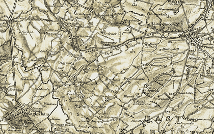 Old map of Lawside in 1904-1905