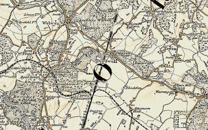 Old map of Haldens in 1898-1899